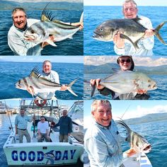 A lovely Inshore trip with the guys from England yesterday.   After his third attempt and two previous trips to Mexico Reg finally caught his first ever Roosterfish and it was a special moment to share with him indeed.   2 Roosterfish, 1 Blue Fin Trevally and a Jack was the tally for the day. Quepos, Sport Fishing, Mexico Travel, Costa Rica, Third, England, In This Moment, Guys, Sports