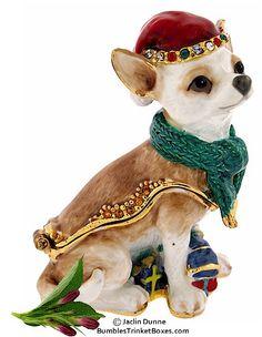 Trinket Box: Christmas ChihuahuaTrinket Box  $36