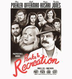 Fantástico este cartaz de Parks and Recreation