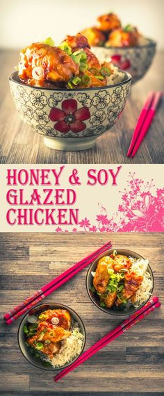 Soy & Honey Glazed Chicken Recipe: Soy and rice wine vinegar joins this crispy honey glazed chicken breast, to give it a distinct Chinese feel and all in 30 minutes tops! Easy Chicken Recipes, Turkey Recipes, Asian Recipes, Chicken Meals, Asian Foods, Honey Glazed Chicken, Sweet N Sour Chicken, Healthy Dinner Recipes, Delicious Recipes
