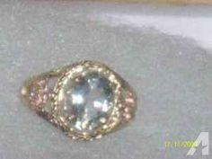 10k gold ring with aquamarine,diamonds and tourmalines. - $145 (Bensalem)