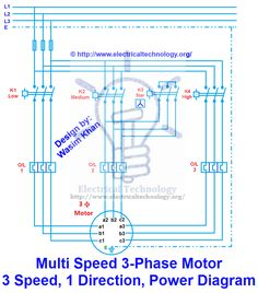 2 speeds 1 direction 3 phase motor power and control diagrams rh pinterest com