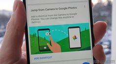 Photos shortcut in Google Camera