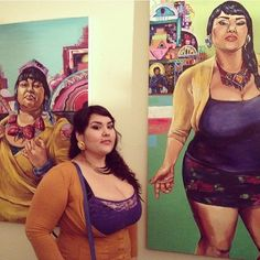 """Love this artist for her works with beautiful bodies that aren't the typical """"perfect"""" proportions. Crystal Galindo (crystalgalindo.com)  @crystal_celeste on Instagram, pinned via the InstaPin iOS App! http://www.instapinapp.com (11/14/2013)"""