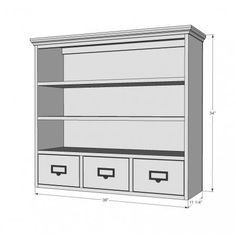 Schoolhouse Wall Hutch DIY with all the instructions, cuts, etc. Woodworking Logo, Woodworking Books, Woodworking Projects Plans, Beadboard Wainscoting, Wainscoting Panels, Simple Furniture, Handmade Furniture, Furniture Plans, Diy Furniture
