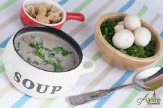 Supa crema de ciuperci Risotto, Healthy Recipes, Healthy Foods, Eggs, Breakfast, Ethnic Recipes, Mushroom, Health Recipes, Health Foods