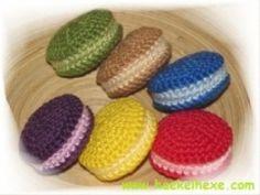 süße Leckereien Cupcakes, Knitting, Crocheting, Aqua, Amigurumi, Goodies, Fruit, Treats, Toys