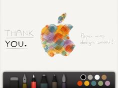 "iPad App ""Paper"" won an Apple Design Award at WWDC."