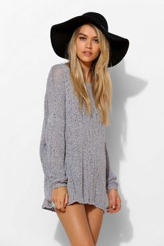 Ecote Slubby Tunic Sweater - Urban Outfitters