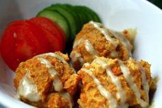 Sweet Potato Falafel: high protein content (gf, vegan).