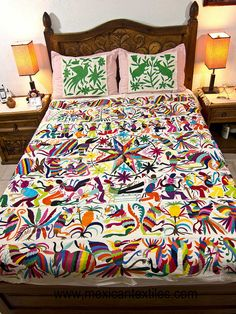 Mexican Home Decor | Mexican patterns - Otomi fabric and textiles for home decoration ...