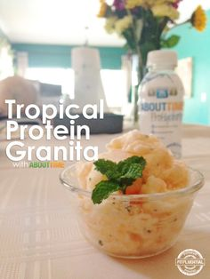Topical Protein Granita from @tryabouttime using their new ProHydrate protein drink. WHOA. #fitfluential #tryabouttime #ad #health