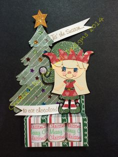 Christmas project I made for the KaDoodle Bug Designs/Peachy Keen Stamps Christmas in July 2014 week long FB hop. Check out the details on my FB page, July 14th post. TTFN