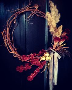 Beautiful dried floral wreath.