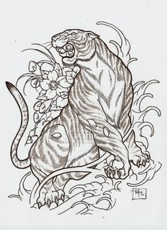 Japanese style tiger... I want this done to make up the rest of my sleeve