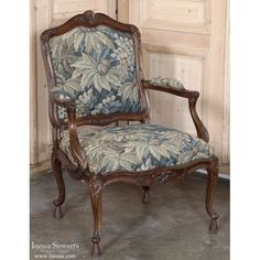 Antique Armchairs | Pair 19th Century French Louis XV Walnut Tapestry  Armchairs | Www.inessa