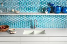 Majorly love this aqua tile. Now, I just need a project to put it in. Any looking to hire a designer?