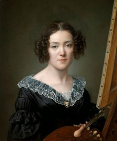 "Elisa Counis ""Self-Portrait"" 1839 The Uffizi Gallery Florence"