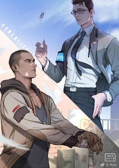 Detroit Become Human Connor and Markus Detroit Being Human, Detroit Become Human Game, Fanart, Luther, Game Character, Character Design, Quantic Dream, Becoming Human, 5 Anime