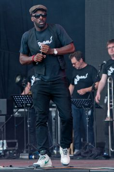 Idris Elba of The Bullitts performing on the Deer Park stage at the Big Chill festival from 2011