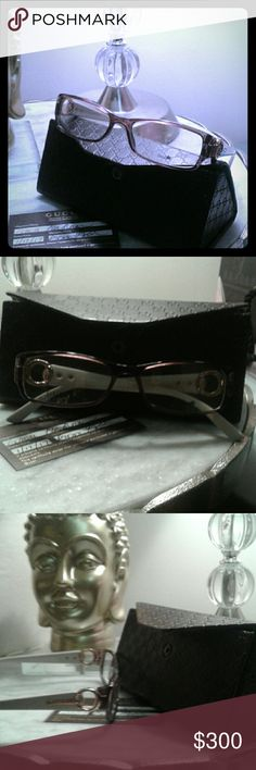 New authentic Gucci eyeglasses Just put your prescription in.  Authenticity card included with case Gucci Accessories Sunglasses