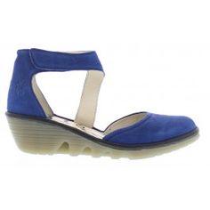 Fly+London+Women's+PIAT+Blue+Nubuck+Strappy+Wedge+Shoe+P500466027+$79.95