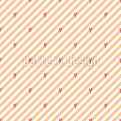 Gestreifter Valentinsgruß Vektor Muster by Svetlana Bataenkova at patterndesigns.com Vektor Muster, Surface Design, Valentines Day, Romantic, Patterns, Vectors, Stripes, Valentine's Day Diy, Block Prints