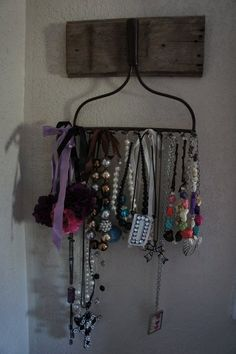 Rustic Rake Jewelry Holder by LoveleighLetters on Etsy