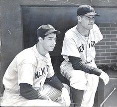 DiMaggio and Gehrig Damn Yankees, New York Yankees Baseball, Yankees Fan, Baseball Art, Cardinals Baseball, Sports Baseball, Baseball Players, Mlb, Baseball Pictures