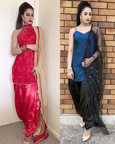 KIRAN DHALIWAL Punjabi Dress, Pakistani Dresses, Indian Dresses, Indian Outfits, Patiala Suit Designs, Salwar Designs, Dress Clothes For Women, Desi Clothes, Punjabi Fashion