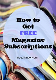 Get free magazine subscriptions to your favorites like Parents, Martha Stewart, Family Circle, Shape, and so many more!!