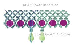 Free pattern for necklace Halkidiki - 2 U need: flat round beads 2 holes seed beads 11/0 drop beads
