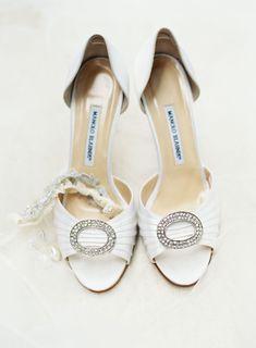 Classic white Manolo Blahnik shoes: http://www.stylemepretty.com/2016/05/27/classic-houston-wedding/   Photography: Kayla Barker Fine Art Photography - http://www.kaylabarker.com/