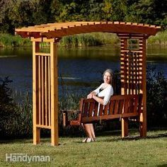 You can build this stylish, arched garden arbor with a swing in only a couple of days—it's way easier than it looks.
