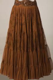Copper Color Beaded Skirt