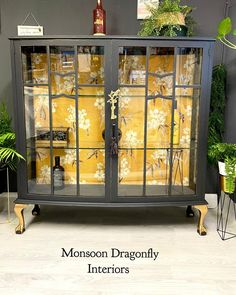 Hand Painted Furniture, Paint Furniture, Upcycled Furniture, Furniture Makeover, Cool Furniture, Furniture Refinishing, Painted Cupboards, Glass Cabinets, Display Cabinets