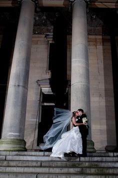 The PERFECT kiss picture at Celebrate at Snug Harbor! #beautifulwedding