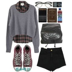 #autumn #sweater #flanel #shorts