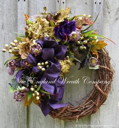 Fall Wreath, Autumn Wreath, Thanksgiving, Designer Wreath, Victorian Wreath…