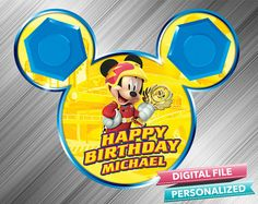 Mickey Roadster Racers Birthday Sign