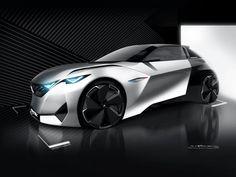 Peugeot Fractal Concept Design Sketch Render
