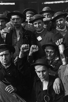 David Seymour FRANCE. Montrouge near Paris. Buffalo velodrome stadium. Miners celebrating the election of 378 Popular Front deputies. June 12th, 1936.