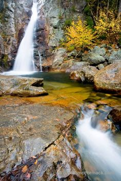 Glen Ellis Falls, White Mountains, New Hampshire, USA. Stock Photo
