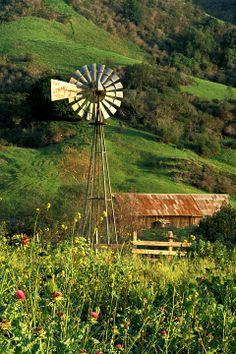 Country  Windmill, Santa Rosa Creek Rd, by Geraldine Cropser