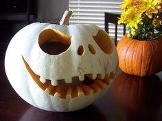 Jack Skellington pumpkin.