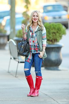 How to Style Hunter Boots: Outfit Inspiration - Cort In Session