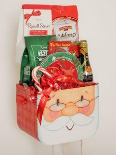 Santa Snack Gift Basket E Farm, Business Profile, Novelty Items, Gift Baskets, Floral Arrangements, Party Favors, Custom Design, Lunch Box, Santa