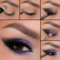20 Simple Purple Smokey Eye Makeup Tutorial (With Pictures) . - 20 simple purple smokey eye makeup tutorial (with pictures) … – 20 Simple - Eye Makeup Pictures, Eye Makeup Tips, Eyeshadow Makeup, Beauty Makeup, Makeup Ideas, Makeup Pics, Purple Eyeshadow, Eyeshadow Palette, Colorful Eyeshadow