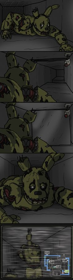 Springtrap and the vents by leda456.deviantart.com on @DeviantArt