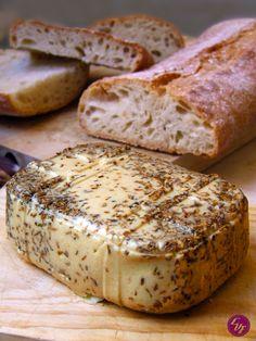 Queso gouda vegano - Tax Tutorial and Ideas Delicious Vegan Recipes, Raw Food Recipes, Veggie Recipes, Vegetarian Recipes, Tasty, Fromage Vegan, Salty Foods, Vegan Butter, Vegan Cheese